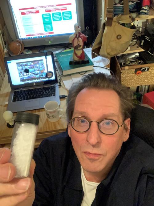 Edward holding Ortheia's biomaterial-min