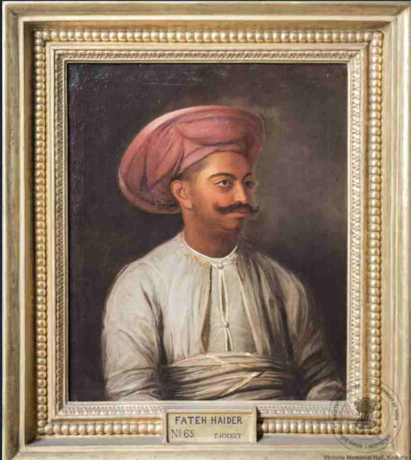 Portrait of Fateh Haidar, the son of Tipu Sultan and Roshani Begum, by Thomas Hickey