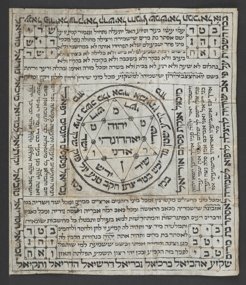 Hebrew amulet. 18th-19th century (Or 16206)