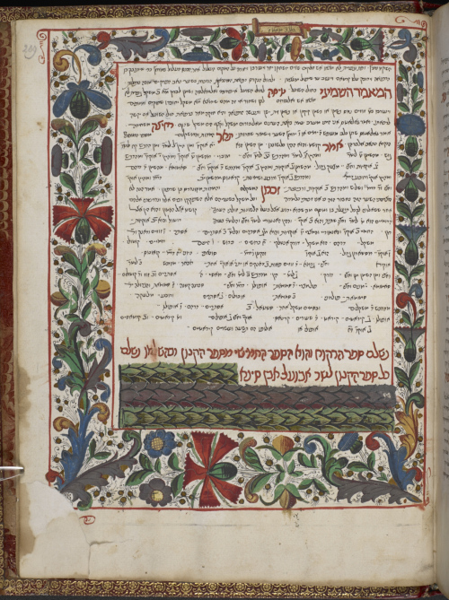 Avicenna  The Canon of Medicine (Hebrew translation of Books III and V). Spain or Italy  1479