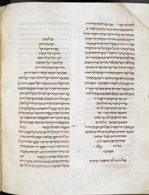 Babylonian Talmud  fragments. 13th century