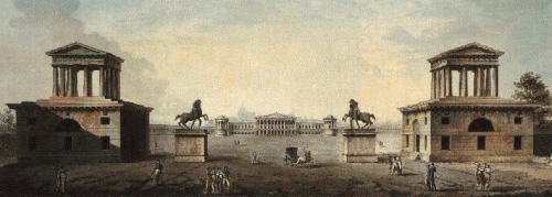 Plans for the Foro Buonaparte in Milan