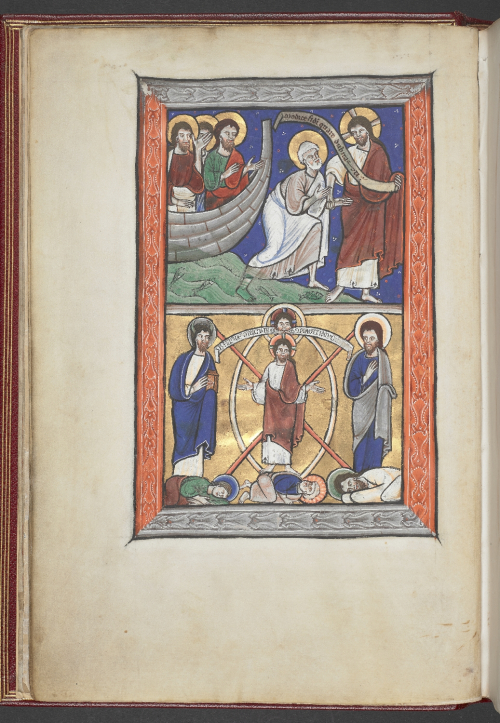 Prefatory images before the Psalms, showing Two miracle scenes