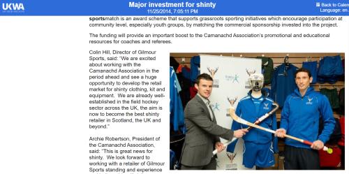 Shinty - Sport scotland website