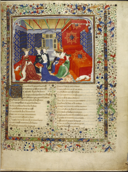 Christine de Pizan presenting her book to queen Isabeau of Bavaria