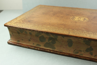 A side of one volume showing the gold tooling in tact.
