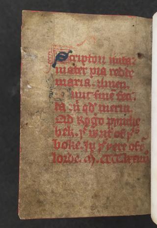 An inscription naming Roger Pynchebek as the scribe