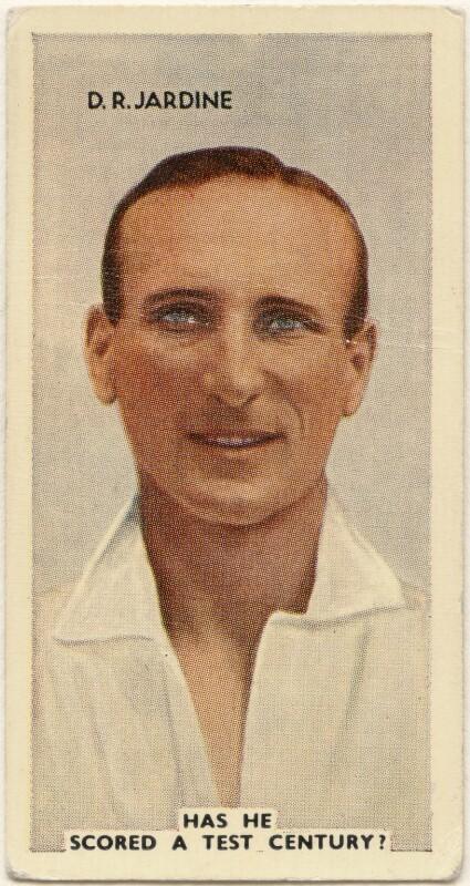 Head and shoulders portrait of cricketer Douglas Robert Jardine