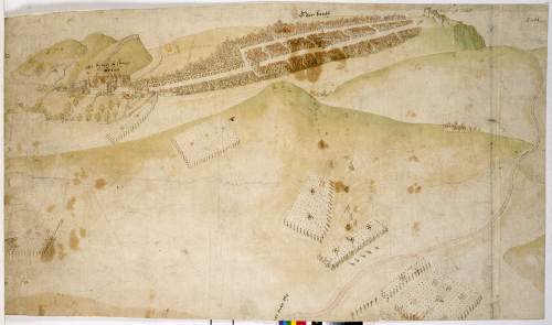Richard Lee, bird's-eye view of Edinburgh (May 1544)