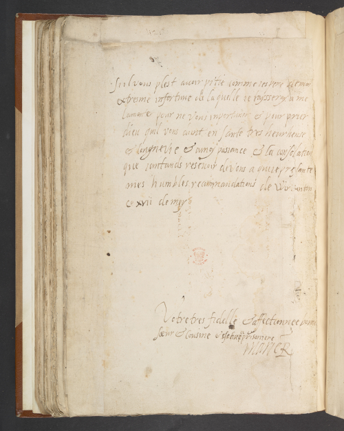Letter written by Mary, Queen of Scots, to Elizabeth I to announce her arrival on English soil (1568)