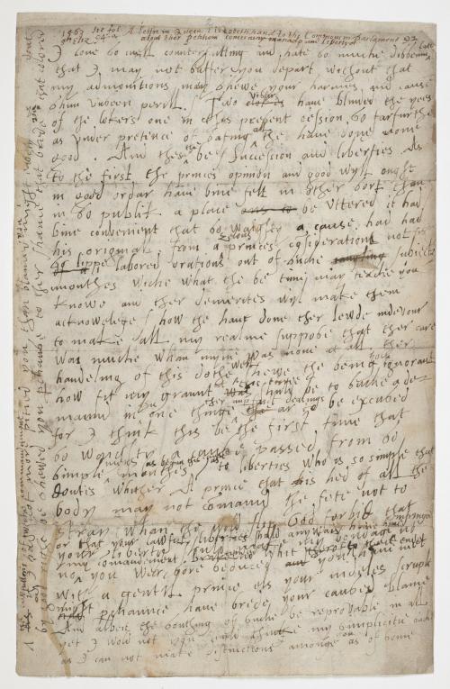 Elizabeth I's speech dissolving parliament in 1567