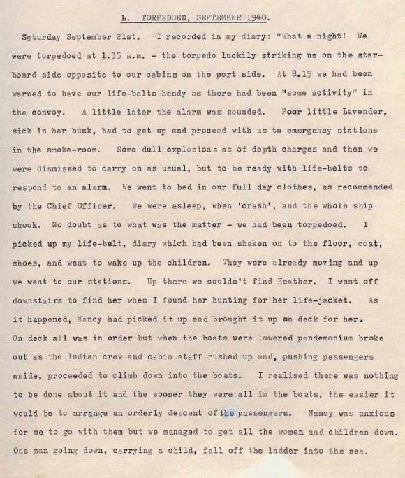 Extract from Herbert Todd's memoir