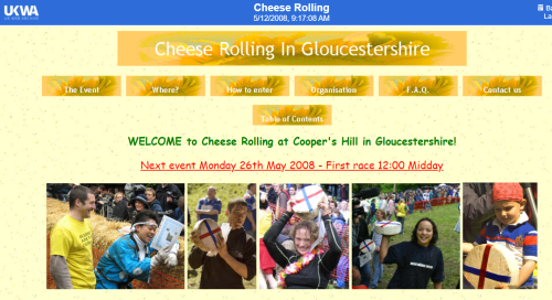 Cheese rolling champs website