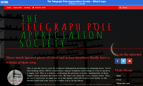 Telegraph pole society in the UK Web Archive