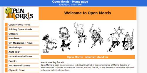 Open morris website in the UK web Archive