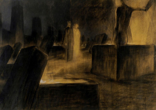 Illustration by Duilio Cambellotti depicting Inferno