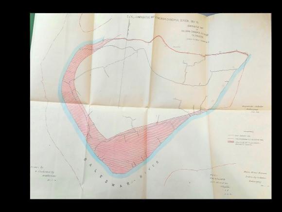 Comparative Map of Kalaran Chandipur, 1919