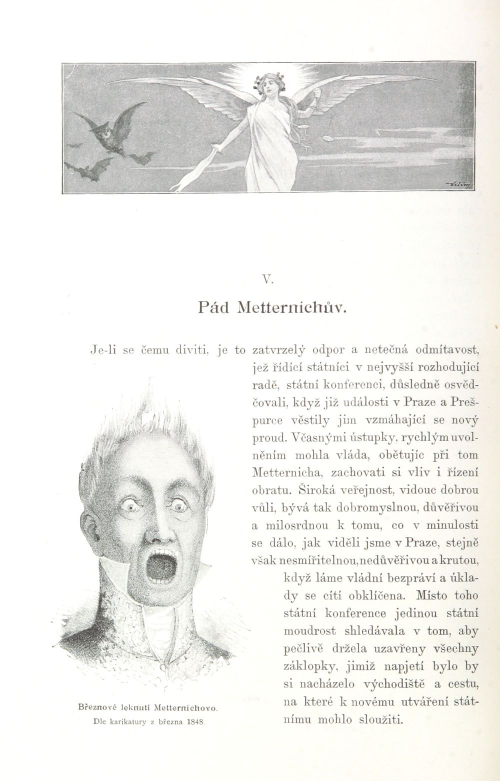 Caricature of March 1848: Metternich's March panic