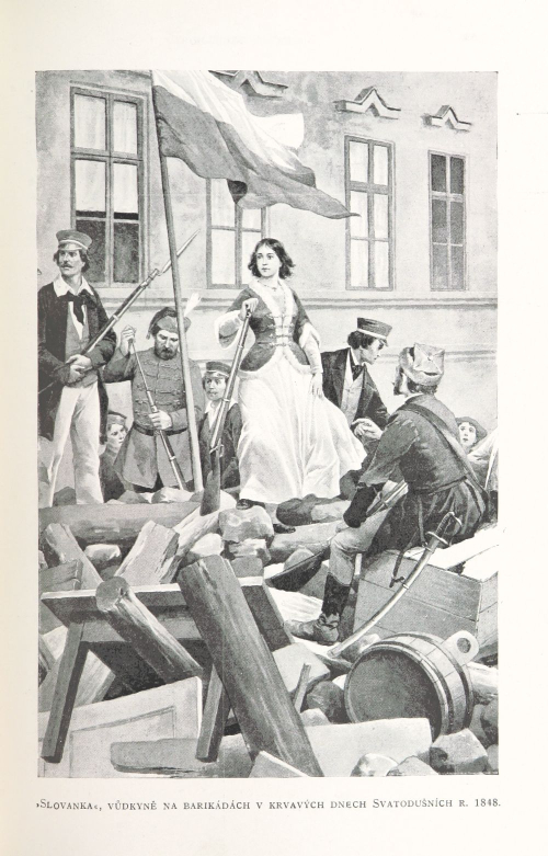 'Slovanka', a female leader on the barricades during the bloody days of the 1848 Pentecost