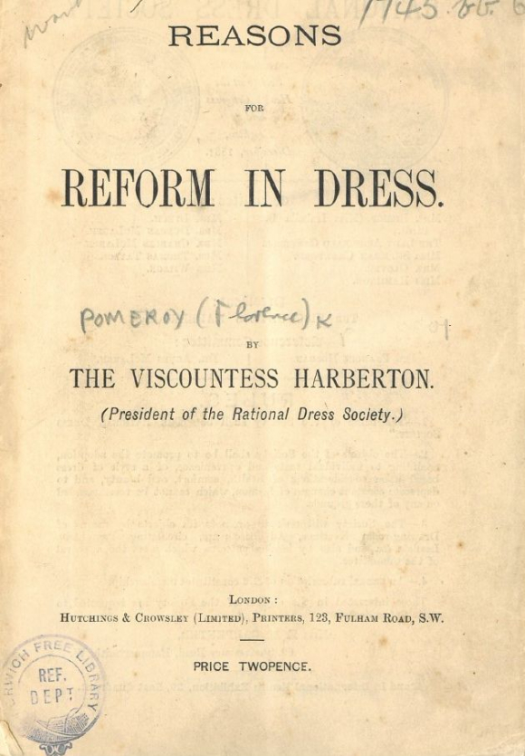 Front cover of Reasons for Reform in Dress