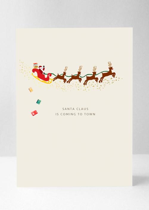 Santa Claus Books Card