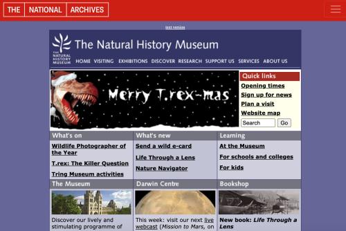 NHM Website 2004