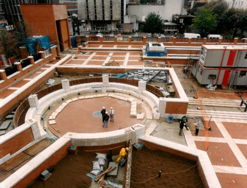 Construction of Poet's Circle in St Pancras  1993