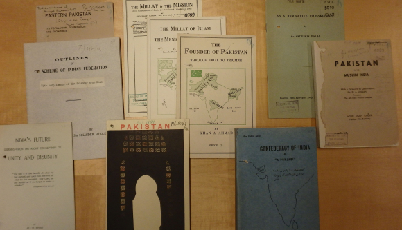 Display of booklets on schemes for reform