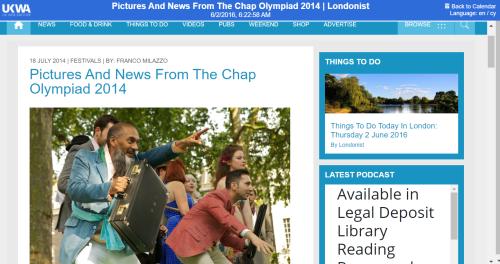 Chap olympiad - Londonist website