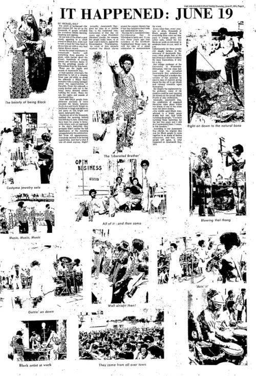 It Happened June 19  Milwaukee Star (Milwaukee  Wisconsin)  June 27  1974 (p.5)