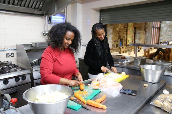 Winta G and Millen cooking - smaller