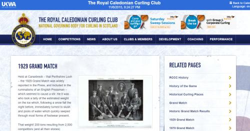 Royal Caledonian Curling website