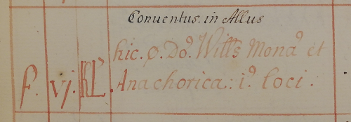 A text written in early modern script and red ink, recording the feast of Wulfsige