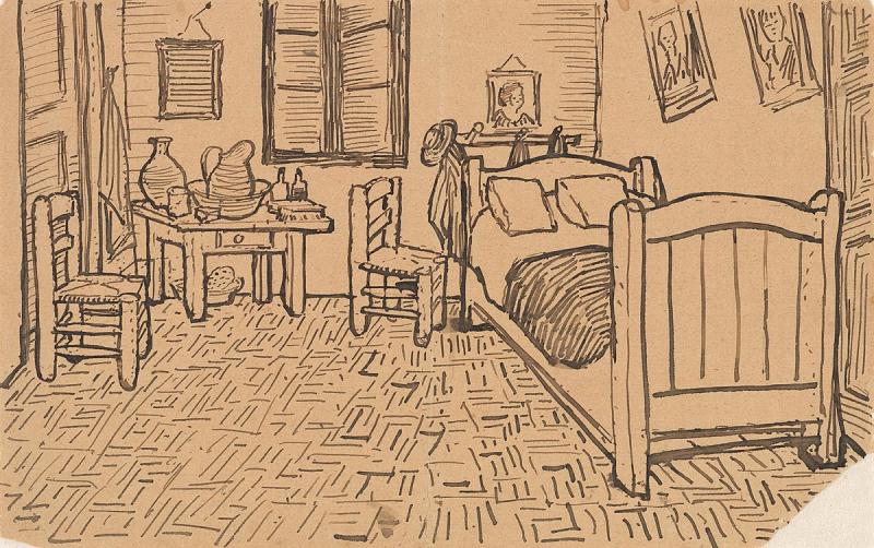 1200px-Vincent_van_Gogh_-_Vincent's_Bedroom_in_Arles_-_Letter_Sketch_October_1888