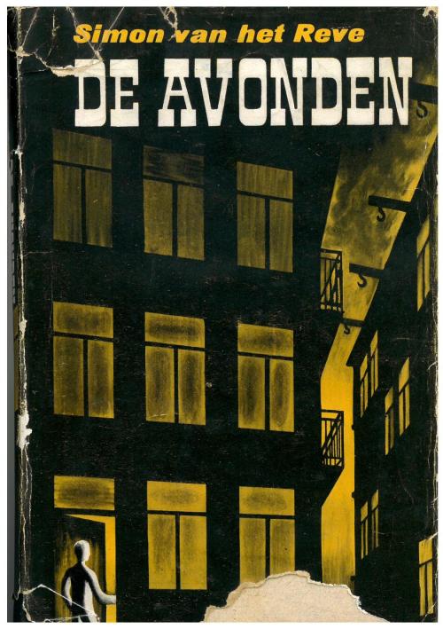 Cover of De avonden by Simon van het Reve showing a person entering a building