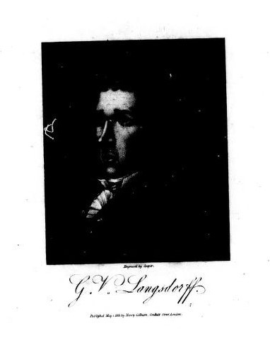 A  slightly side-on black and white image of G.H. Langsdorff.