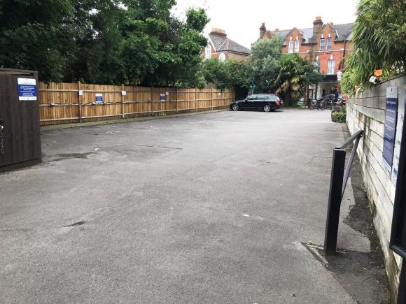 Car park  at St Margaret's Tavern Twickenham