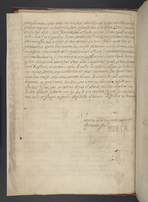 Mary, Queen of Scots' longest letter, sent to Elizabeth I to complain about her sufferings in prison (1582)