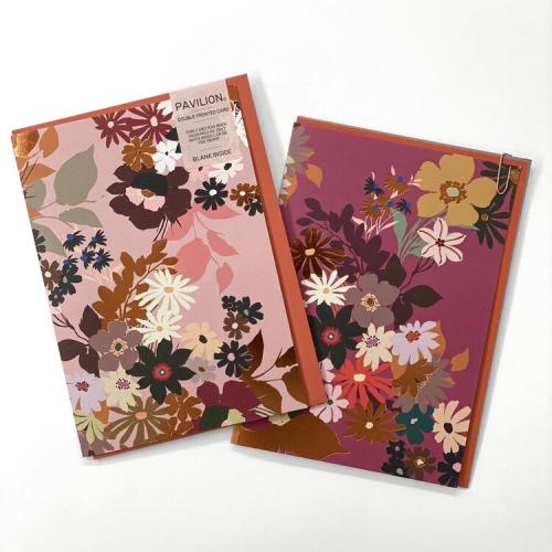 Pavilion Raspberry Floral Card Double