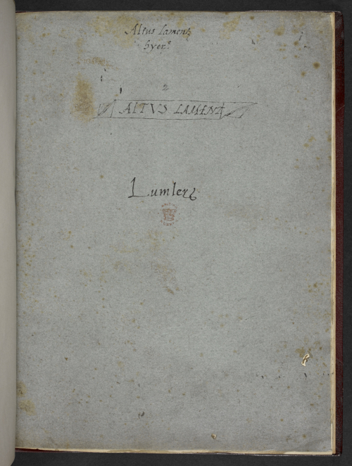 Ownership mark of Lord Lumley
