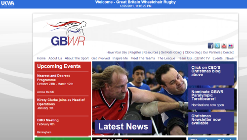 GB Wheelchair rugby website