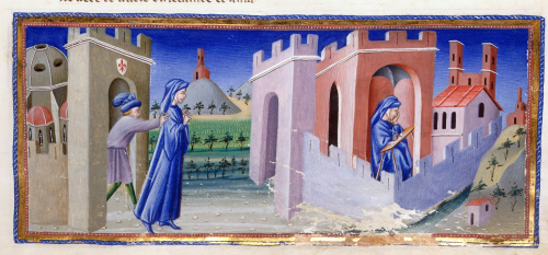 Dante being expelled from Florence and writing the Divine Comedy in exile