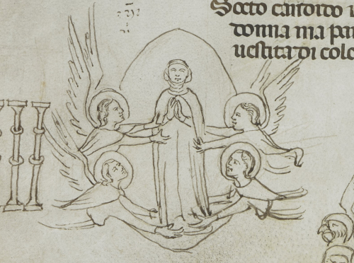 Beatrice in a mandorla carried by angels