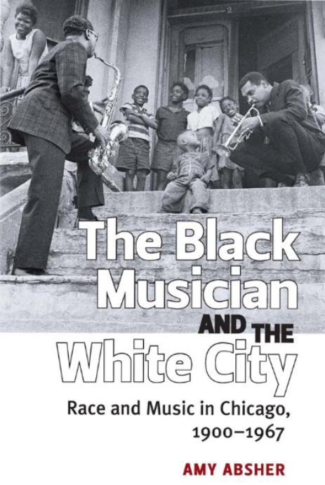 Black musician in the white city